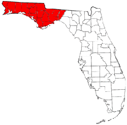 Map of Panhandle